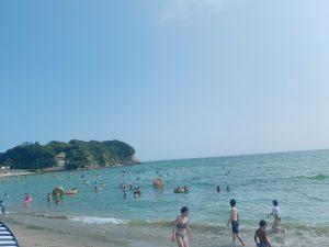加々美~今年初海水浴~